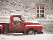 Snowy Christmas Truck