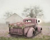 Pink Flower Truck