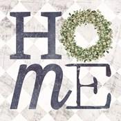 Home with Eucalyptus Wreath III