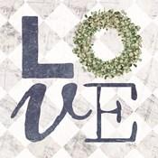 Love with Eucalyptus Wreath III