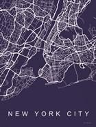 NYC Street Blue Map