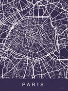 Paris Street Blue Map