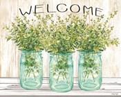 Welcome Glass Jars