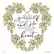 Delight Yourself Heart Wreath
