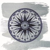 Brushed Midnight Blue Compass Rose