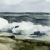 Loose Watercolor Waves VI
