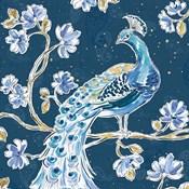 Peacock Allegory IV Blue v2