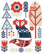 Folk Lodge Fox Red Navy