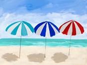 Beach Umbrella Trio