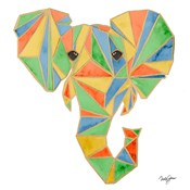 Vibrant Retro Elephant