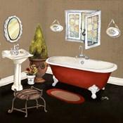 Red Master Bath I