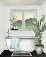 Modern Black and White Bath I