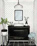 Modern Black and White Bath II