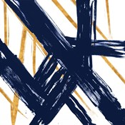 Navy with Gold Strokes III