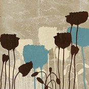 Floral Simplicity III (blue)