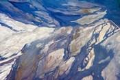 Aerial view of Highland Lakes on Atacama Desert, Chile