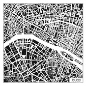 Paris Map Black
