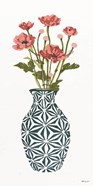 Tile Vase with Bouquet I