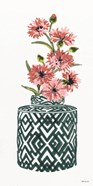 Tile Vase with Bouquet II