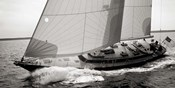 Sailboat Leaning to the Side (detail, BW)