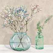Floral Setting with Glass Vases I