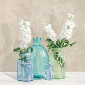 Floral Setting with Glass Vases II