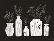 White Line Floral Vases