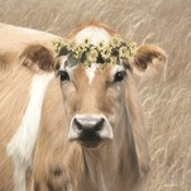 Floral Cow I