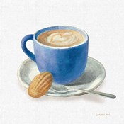 Wake Up Coffee I Linen Classic Blue