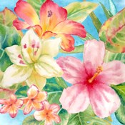 Tropical Island Florals square