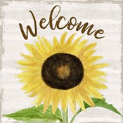 Fall Sunflower Sentiment IV-Welcome