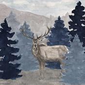 Blue Cliff Mountains scene III-Elk