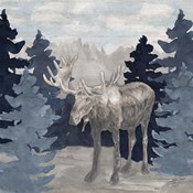 Blue Cliff Mountains scene IV-Moose
