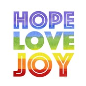 Rainbows VII-Hope Love Joy