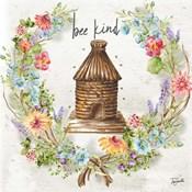 Honey Bee and Herb Blossom Wreath III
