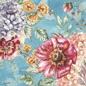 Wildflower Medley square blue II