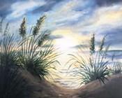 Coastal Sunrise Oil Painting square