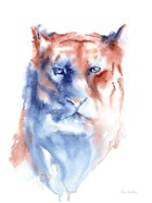 Copper and Blue Lioness