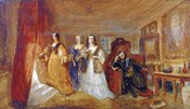 Lucy, Countess of Carlisle, and Dorothy Percys Visit to their Father Lord Percy, c1831