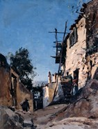 The Old Town Below the Cemetery, Menton, 1890