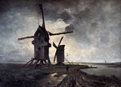 Windmills of the Surrounding Landscape of Lille, 1877