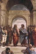 The School of Athens, detail of Plato & Aristotle, 1508-1511