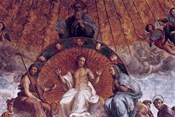 The Disputation on the Holy Sacrament , (detail), 1508-1509