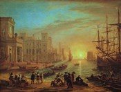 Seaport at Sunset, 1639