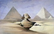 The Great Sphinx and Pyramids at Giza, 1838-1839