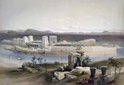 General View of the Island of Philae, Nubia, 1838
