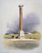 Pompeys Pillar, Alexandria, 19th century