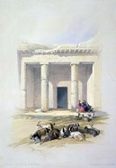 Entrance to the Cave of Beni Hassan, 19th century