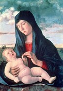 Madonna and Child in a Landscape, c1480-1485
