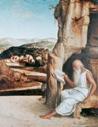 St Jerome Reading in a Landscape, c1450-1516